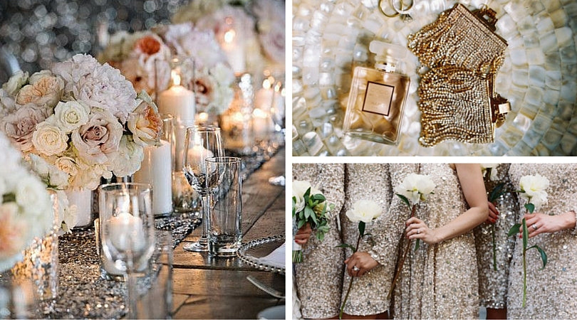 Totally Dazzled Bling Wedding Theme Inspiration