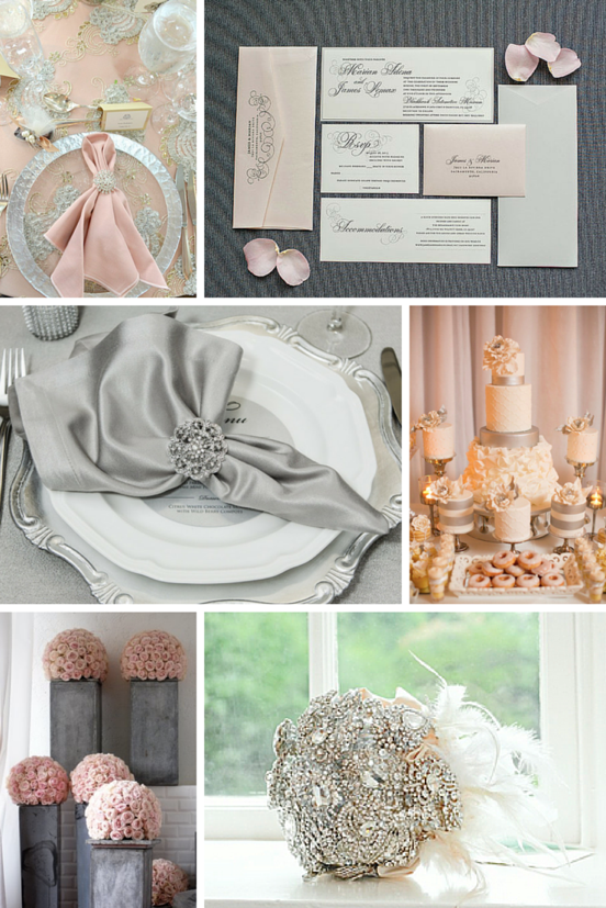 Totally Dazzled Blush Pink and Grey Inspiration