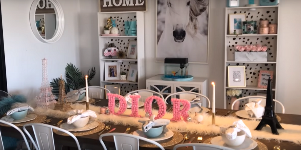 Chelle's Glam Home - Glam Tablescape Process Image #2