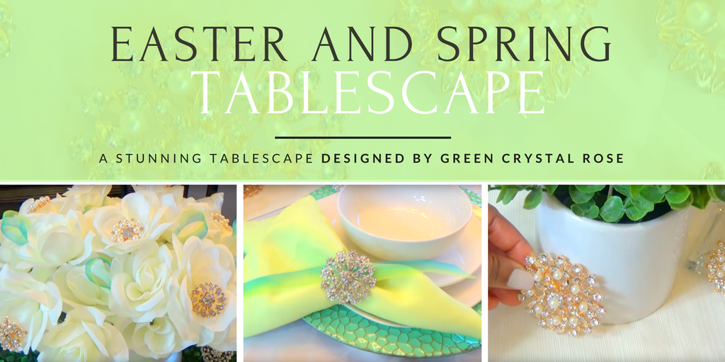Easter and Spring Tablescape by Green Crystal Rose