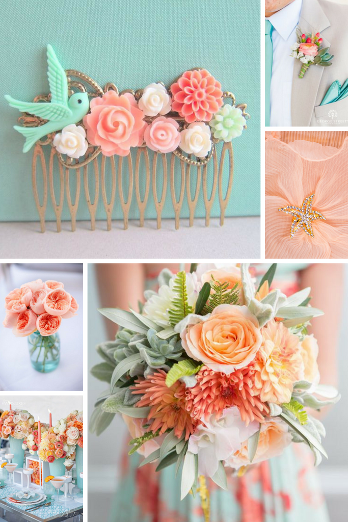 Totally Dazzled Coral and Aqua Wedding Inspiration