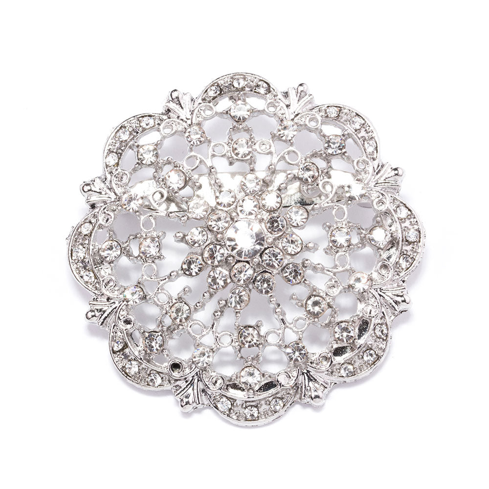 brooches wholesale - rhinestones and pearls