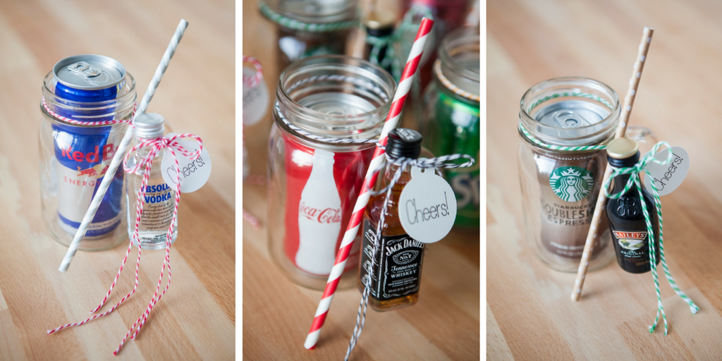 23 wedding favors - Mason Jar Cocktails