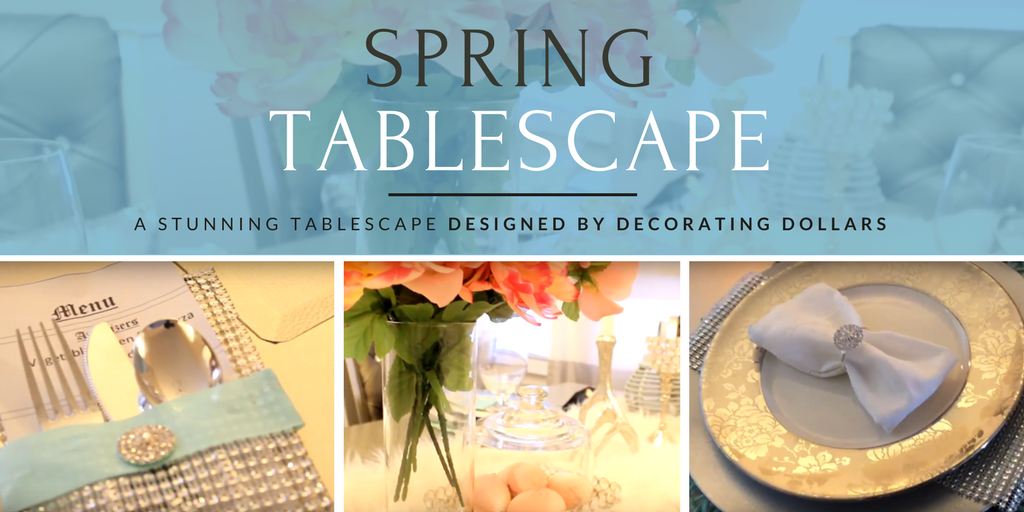 Totally Dazzled + Decorating Dollars Spring Tablescape