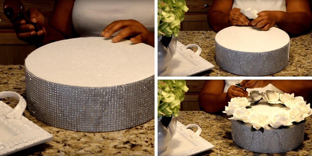 Diva Designing on a Dime with Kimberly Davis_s Imitation Rose Cake Centerpiece Tutorial