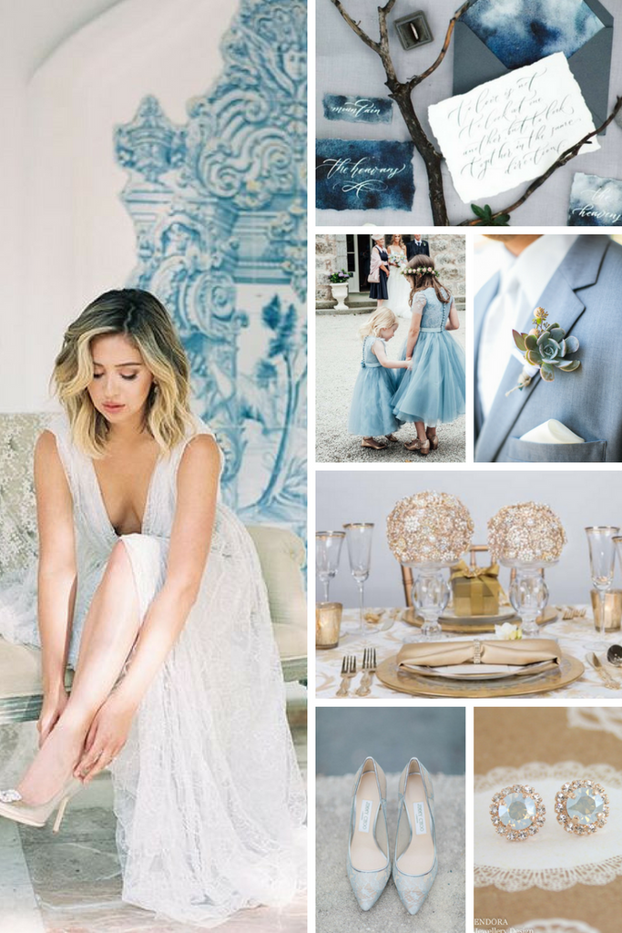 Totally Dazzled Dusty Blue Wedding Inspiration