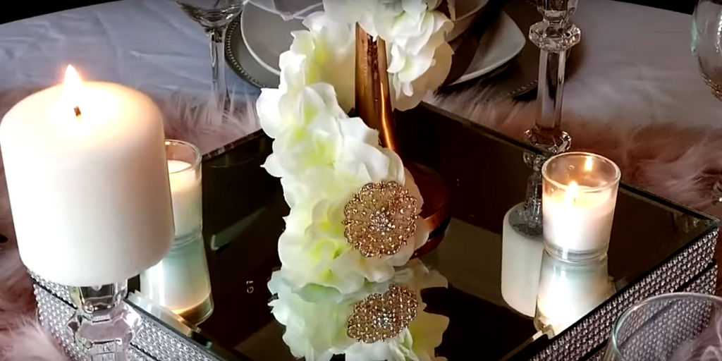 Gorgeous Finishes on the Rose Gold Centerpiece