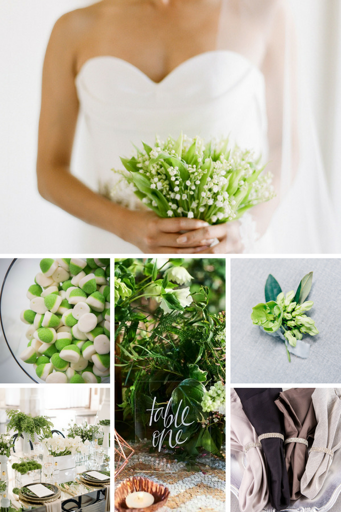 Totally Dazzled Pantone Color Of The Year 2017 Greenery Wedding Inspiration