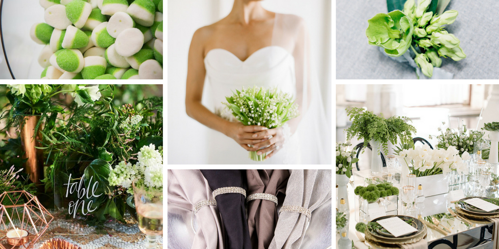 Totally Dazzled Pantone Color Of The Year Greenery Wedding Theme
