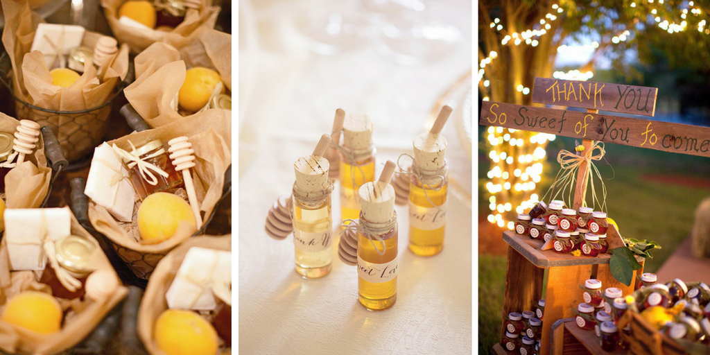 23 wedding favors - honey jars