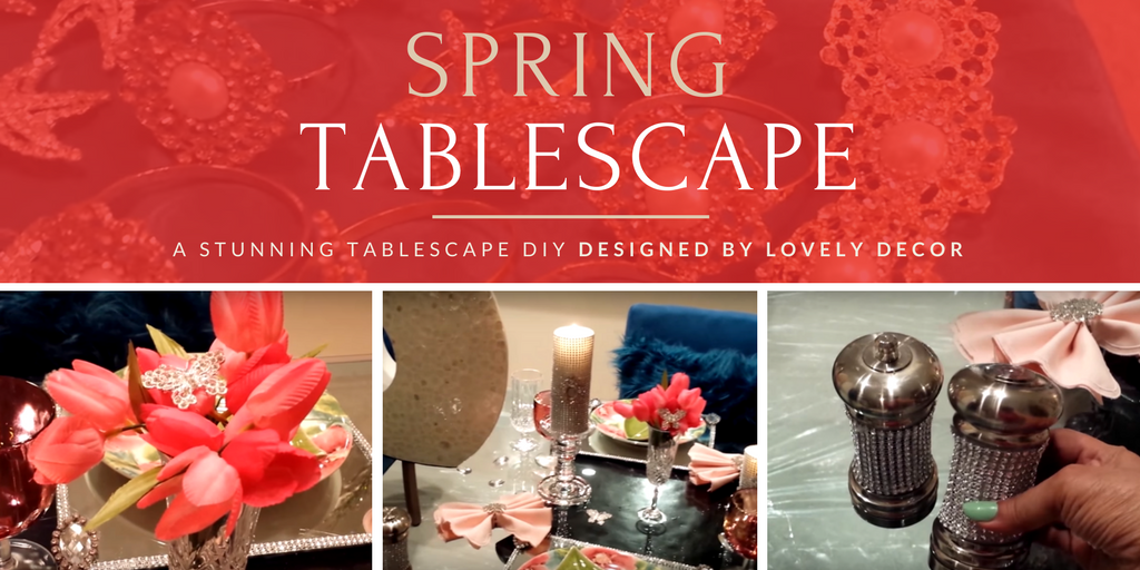 Spring Tablescape by Lovely Decor