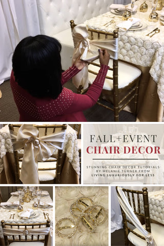 Melanie Turner Living Luxuriously For Less Chair Decor Tutorial