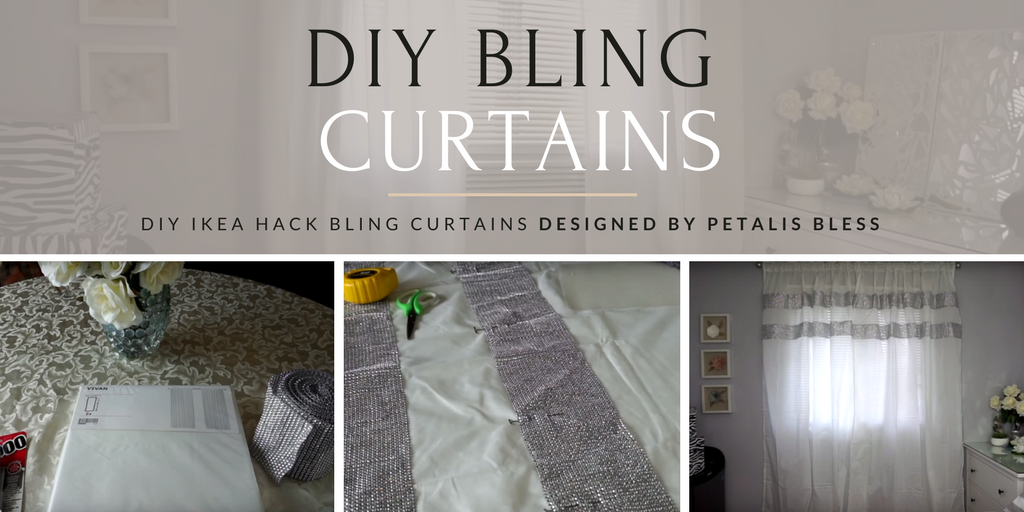 Ptalis Bless Ikea Hack DIY Bling Curtains