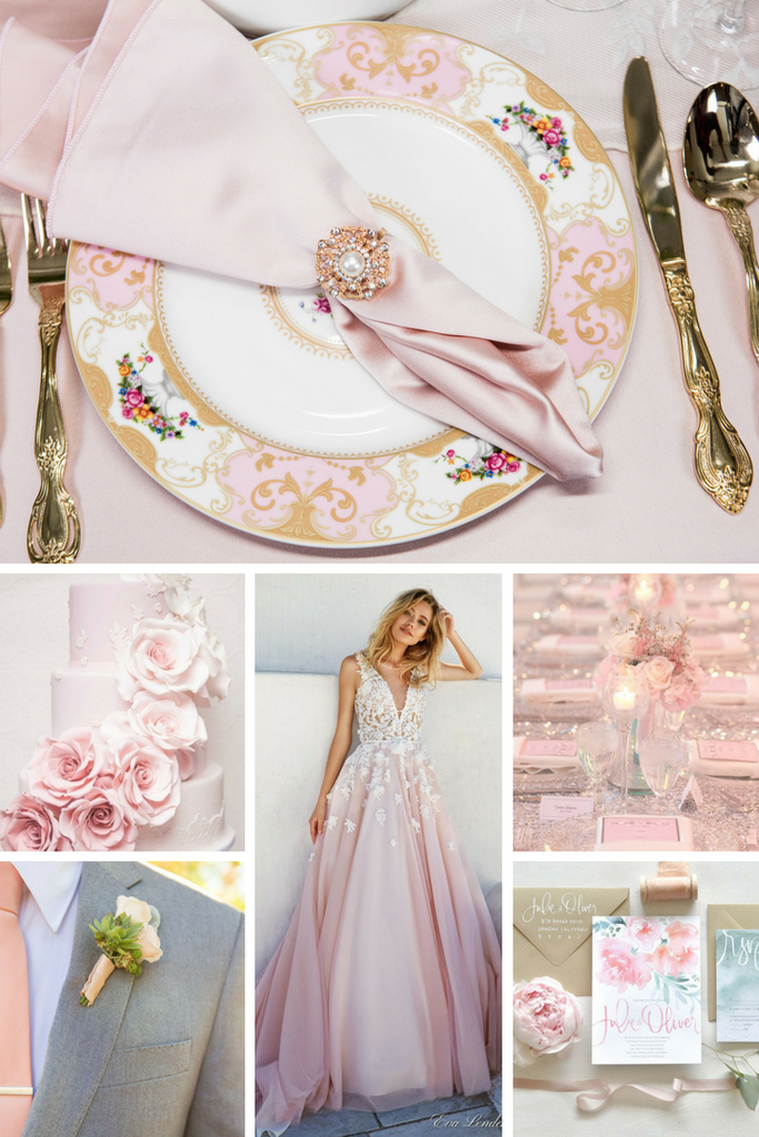 Totally Dazzled Soft Pink Wedding Inspiration