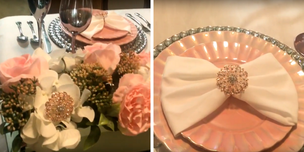 Pretty in Pink Tablescape Beautiful Finishes by Travina Brown