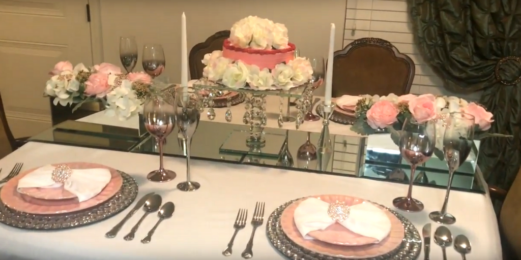 Pretty in Pink Tablescape by Travina Brown Full view