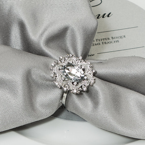 napkin rings with rhinestones