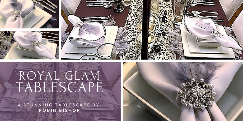 Robin Bishop Royal Glam Tablescape in Purple and Silver