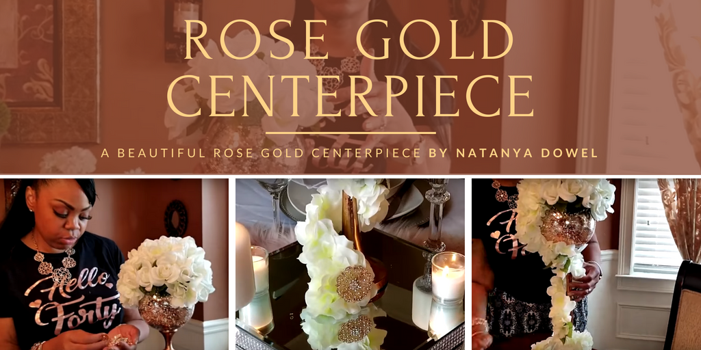 Rose Gold Centerpiece by Natanya Dowel