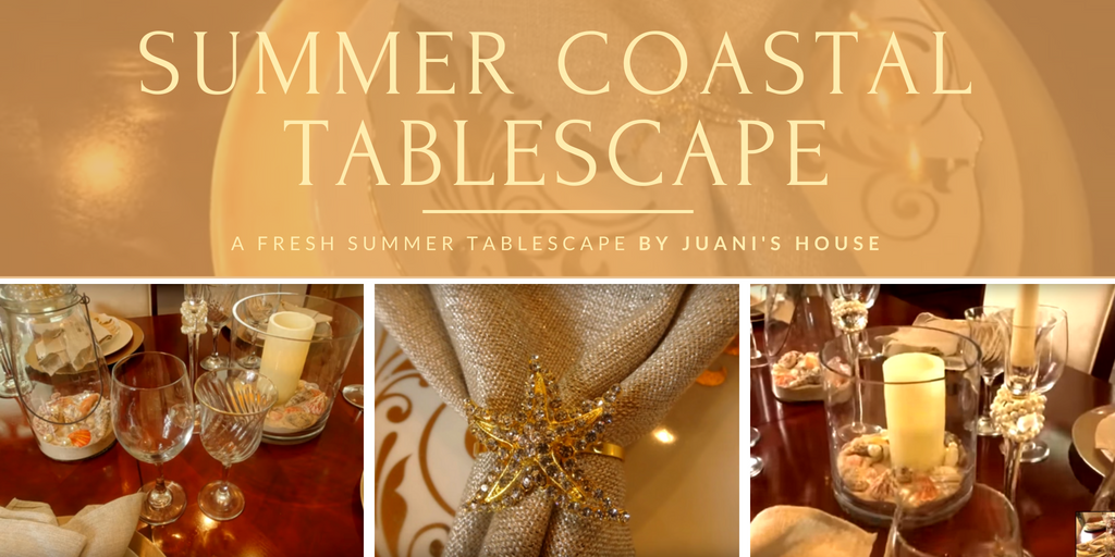 Summer Coastal Tablescape by Juani's House