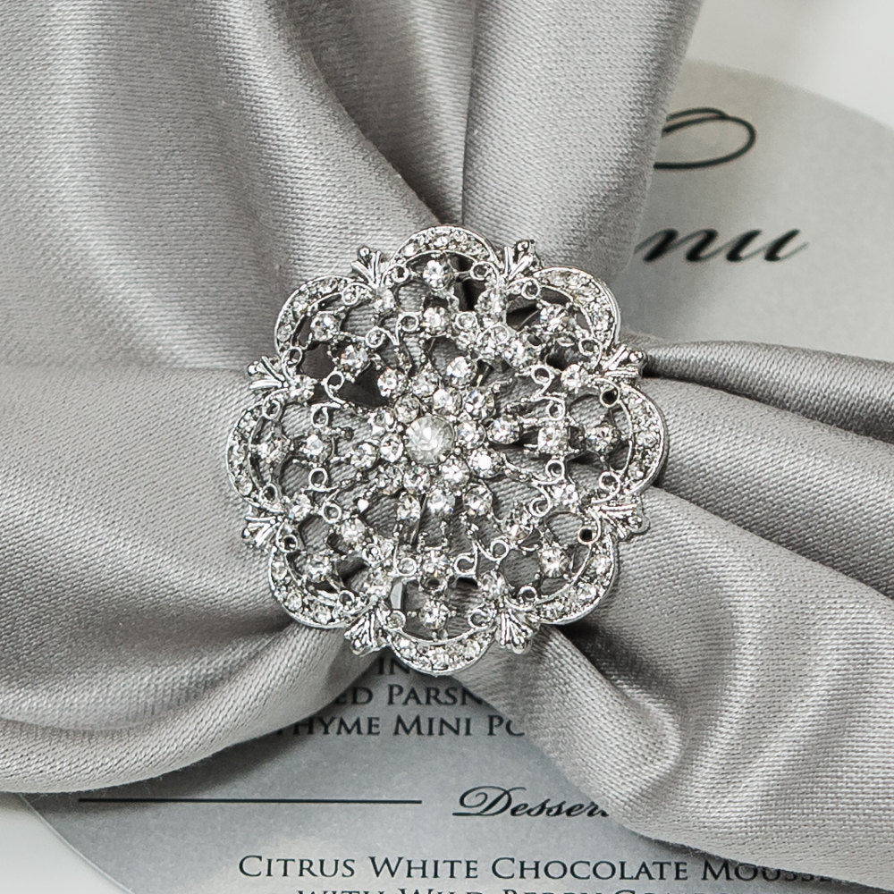 Vintage Diamante napkin Ring
