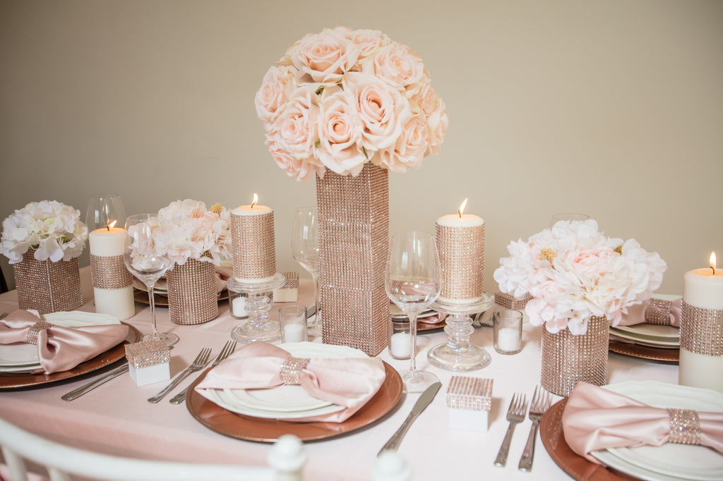 Totally Dazzled Rose Gold Table