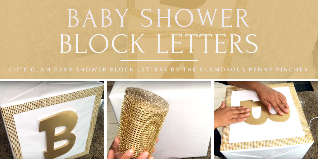 Baby Shower Block Letters By The Glamorous Penny Pincher