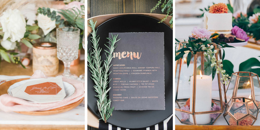 Copper Wedding Table Setting Totally Dazzled