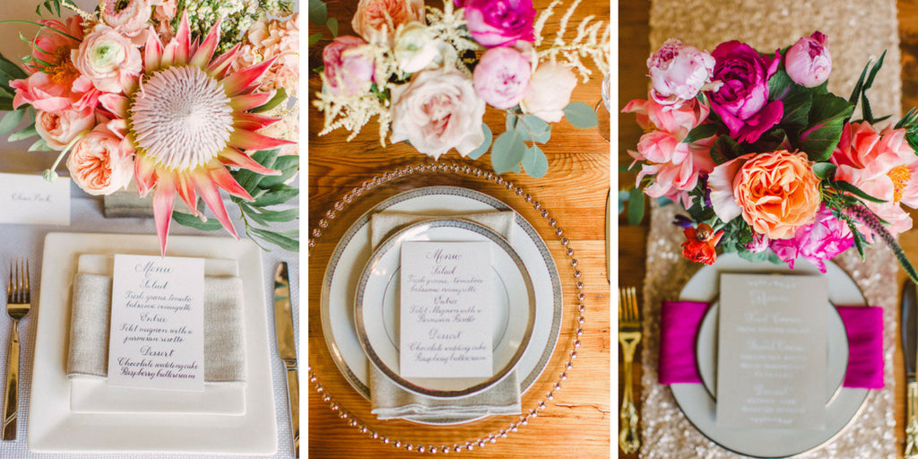 Floral Wedding Table Setting