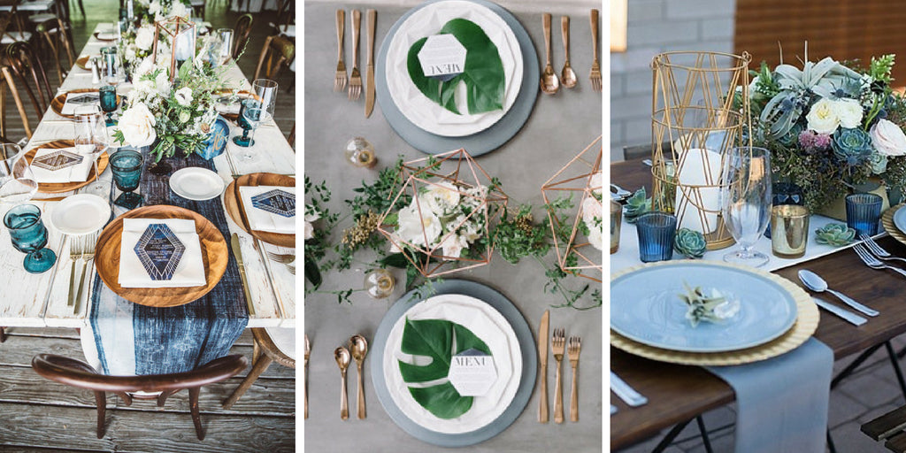 Geometric Inspired Wedding Tables Settings & 60 Stunning Table Settings for Weddings and Events