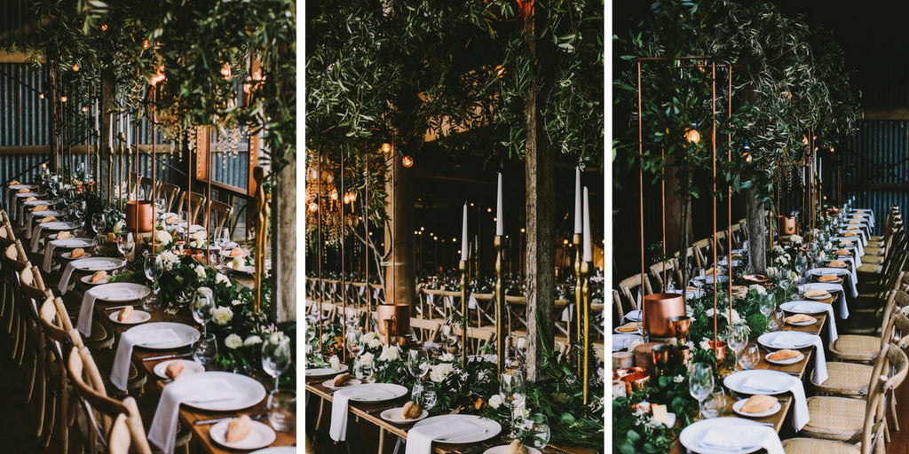 Industrial Inspired Wedding Tables