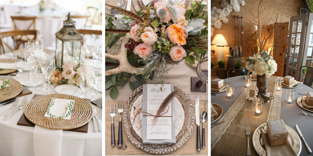 Rustic Tablesettings & 60 Stunning Table Settings for Weddings and Events
