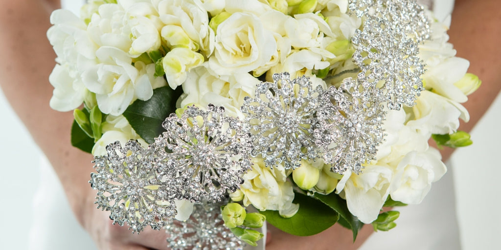 Totally Dazzled 2016 Lookbook White and Blue Bling Bouquet