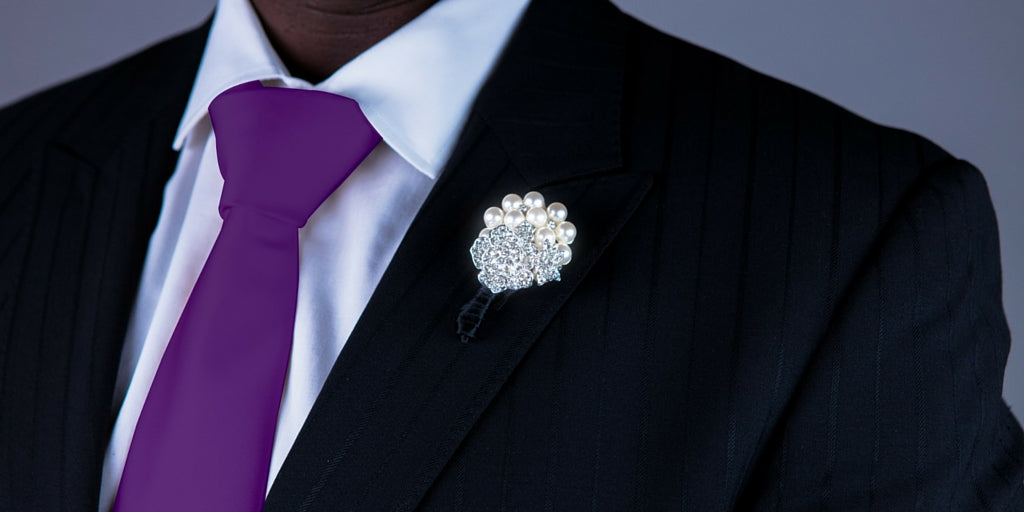 Totally Dazzled 2016 Lookbook Purple and Silver Groomsmen Bling