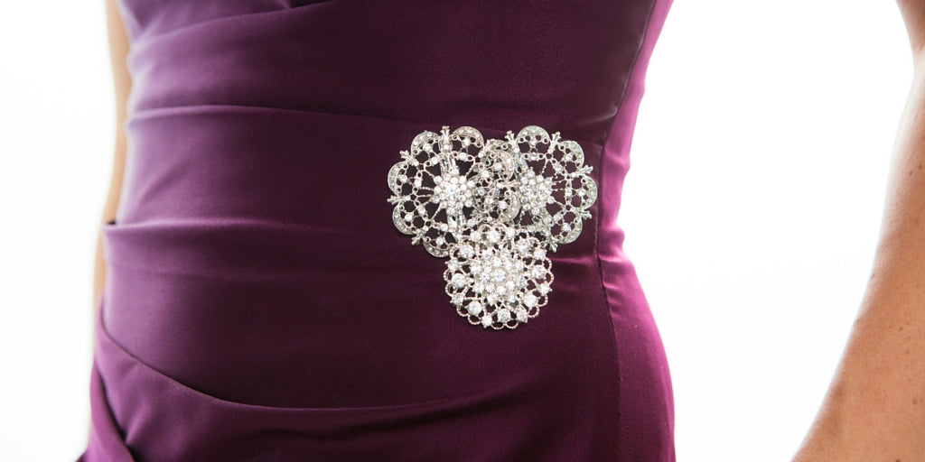 Totally Dazzled 2016 Lookbook Purple and Silver Bridesmaids Bling