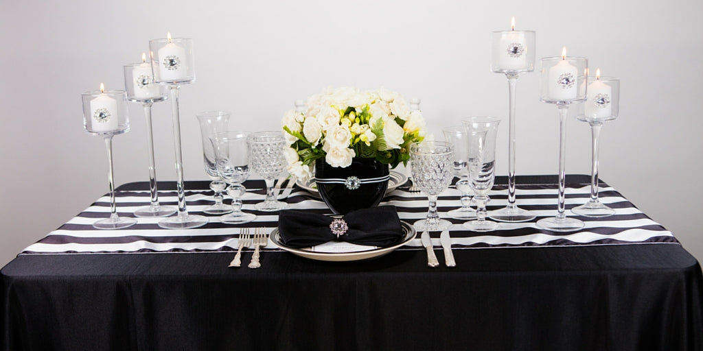 Totally Dazzled 2016 Lookbook Black and White Tablescape