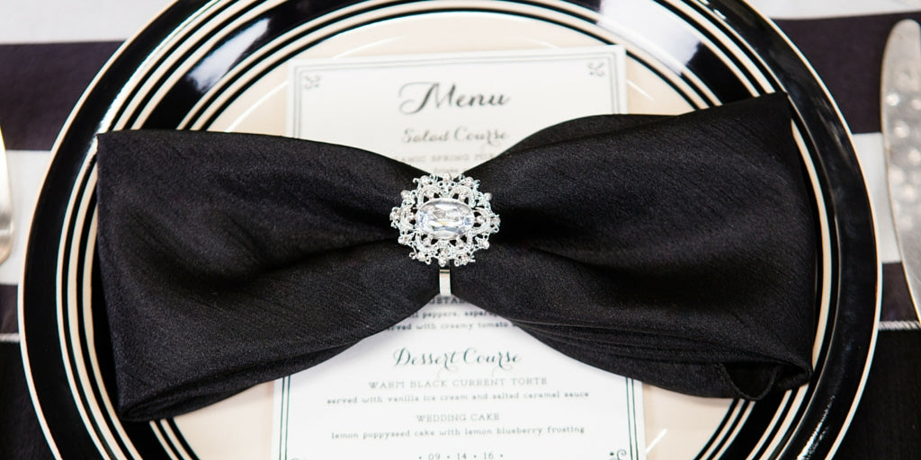 Totally Dazzled 2016 Lookbook Black and White Place Setting