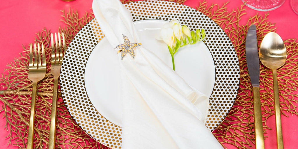 Totally Dazzled 2016 Lookbook Coral Beach Place Setting