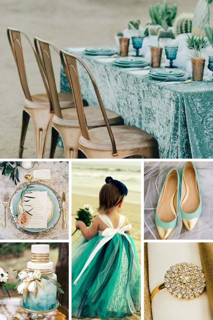 Turquoise And Gold Wedding Inspiration