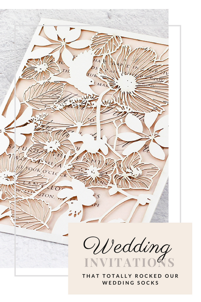 10 wedding invitations that totally rocked our socks