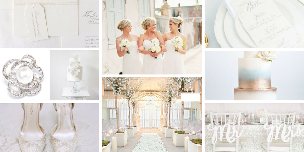 Totally Dazzled White Wedding Inspiration