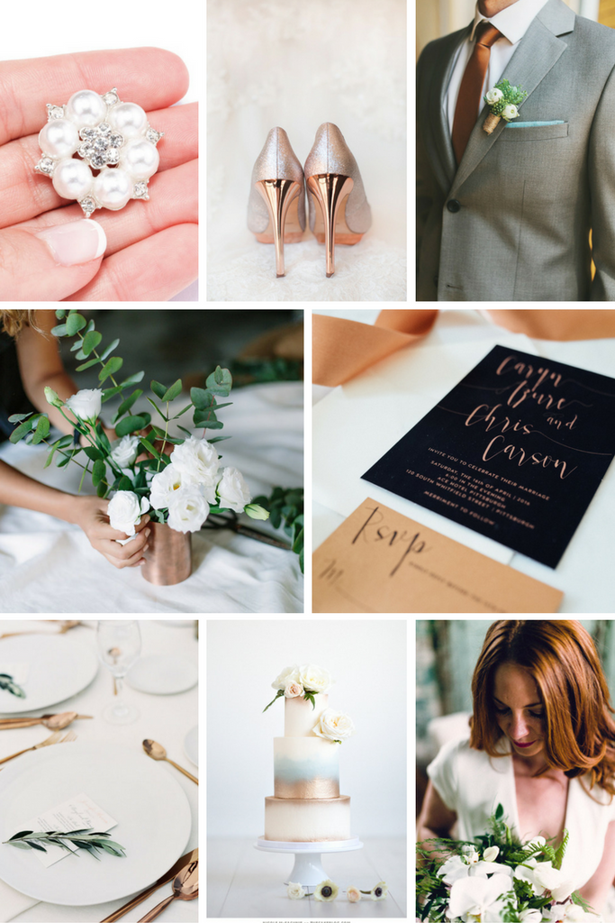 Totally Dazzled Copper and White Wedding Inpisration