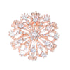 rose gold rhinestone brooch