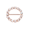 ROSE GOLD RHINESTONE CIRCLE BUCKLE 101-R