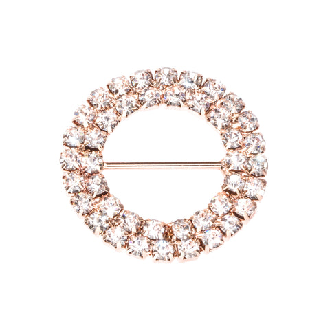 ROSE GOLD DOUBLE DIAMANTE CIRCLE BUCKLE 301-R