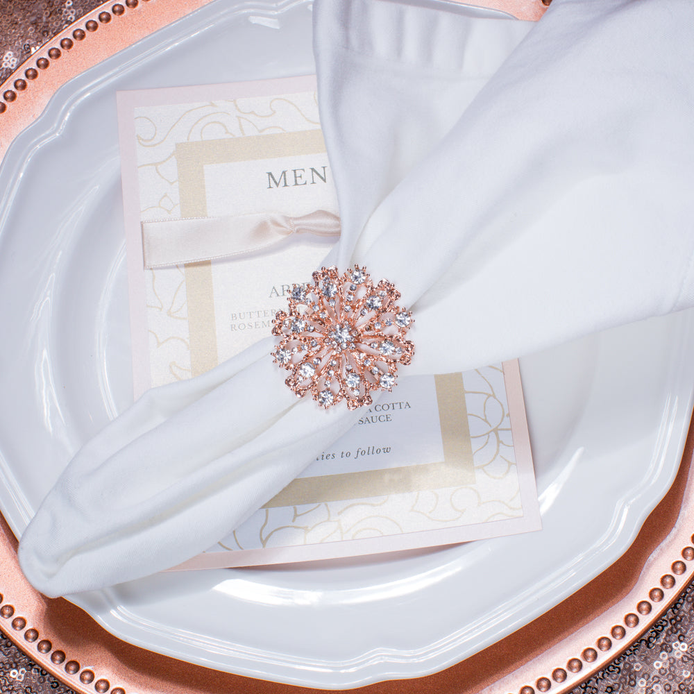 Antique Napkin Ring in Rose Gold