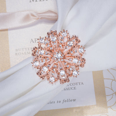 ROSE GOLD ANTIQUE STARBURST NAPKIN RING