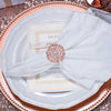 ROSE GOLD VINTAGE DIAMANTE NAPKIN RING 412-R-N