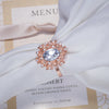 Wedding Rose Gold Crystal Napkin Ring