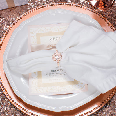 Rose Gold Rhinestone Napkin Ring